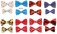 Novelty Bow Ties - Choose 1 New Clip On Cotton Bow Tie Men Boy 2T 3T 4T Bowtie