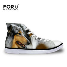 Cat Dog Lion Womens Lady Lace-up High Top Shoes Sneakers Casual Canvas Shoes