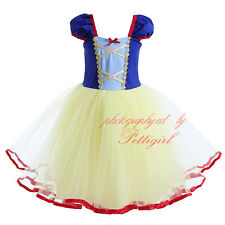 Baby Girls Snow White Princess Fancy Dress Fairytale Queen Costume Party Pageant