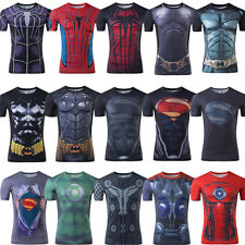 Men Women Avengers Marvel DC Comics T-Shirt Super Hero Jersey Cycling Short Tee