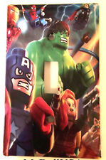 Lego Super hero Hulk Spiderman Light Switch Power Duplex Outlet Cover Plate