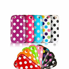 Polka Dots Silicone Case Gel Cover Hard Skin Back For Blackberry Curve 9220 9320