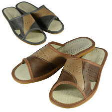 Mens Ecological Leather Flip Flops, Slippers, Sandals, Various Colors Size 6-12
