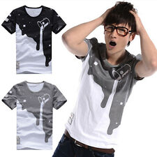 Stylish Men Slim Fit Muscle O-Neck Tee Tops Shirt Casual Short Sleeve T-Shirt LS