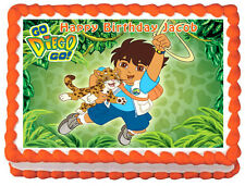 GO DIEGO GO Image Edible Cake topper decoration