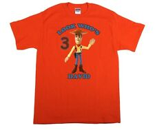 Toy Story Woody Personalized Custom Birthday Shirt in 8 Different Colors