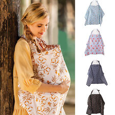 Women Mum Udder Cover Baby Infant Breastfeeding Nursing Blanket Cotton Shawl LS