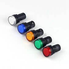 DC 12V 22mm Power Indicator LED Signal Light Red Green Yellow Blue White