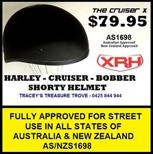 SHORTY HELMET AS/NZS1698 APPROVED MATT BLACK ALL SIZES SHIP TO NEW ZEALAND KIWI