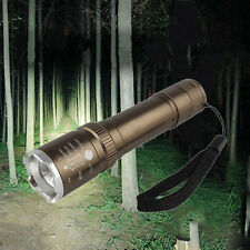4000LM Waterproof CREE T6 LED ZOOMABLE 5 Mode Focus Flashlight Torch light 18650