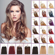18''20''22''Brazilian Remy Human Hair Extensions Micro Ring Bead Loop Tip100S50S