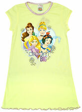Girls Nightdress Nightie Disney Princess Dream Big Belle Cinderella 2 to 8 Years