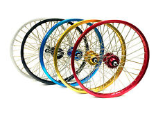 "Front & Rear Araya Type 7X Wheel Set 24"" Various Colours By Old School BMX"