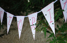 PERSONALISED GIRLS NAMING DAY CHRISTENING BAPTISM CONFIRMATION BUNTING BANNERS