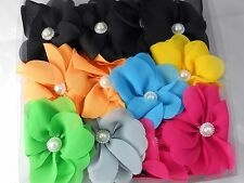 12 pc Flower Jaw Hair Clip Claw Double Sided mixed color .