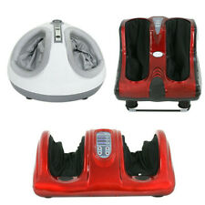 Shiatsu Foot Kneading Rolling Vibration Heating Foot Calf Ankle Leg Massager Red