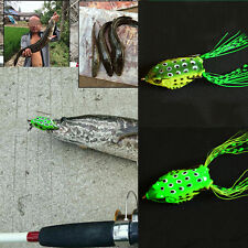HOT Large Frog Topwater Fishing Lure Crankbait Hooks Bass Bait Tackle one