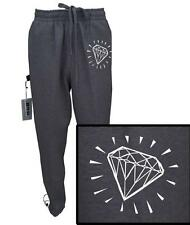 MENS PRINT DIAMOND FUNNY DOPE FLEECE JOGGER DRAWSTRING HEAVY WEIGHT SWEAT PANTS