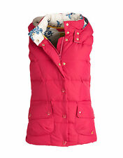 New Joules ALANA Ladies / Women's Gilet Magenta Pink Down Filled
