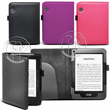 "BOOK WALLET LEATHER CASE COVER POUCH FOR NEW AMAZON KINDLE VOYAGE 6"" INCH"