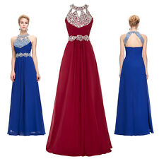 Sexy Sequined Halter Bridesmaid Gown Evening/Prom dress/Party/Clubwear Size 2-16