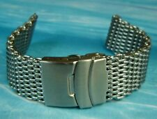 SHARK MESH HD 18mm 20mm 22mm SS DIVER'S WATCH BRACELET BAND FITS SEIKO & CITIZEN