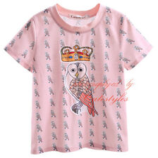 Baby Boys Birds Pattern Summer T-shirt Toddler Kids Short Sleeved Floral Top Tee