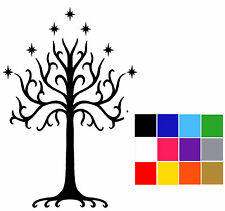 Lord Of The Rings Sticker Tree Of Gondor x 3 Macbook Laptop Tablet LOTR Decals