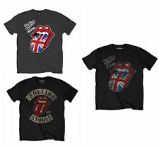 Rolling Stones T-Shirt Mens Black Official Vintage Union Jack Tongue 1978 Tour