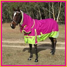 LOVE MY HORSE 1200D 300g 5'0 - 6'6 Reflective Winter Combo W'proof Rug Rasb/Lime