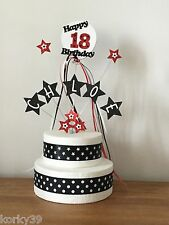 Personalised Cascading Stars Birthday Cake Topper  Any Name Colour and Ages