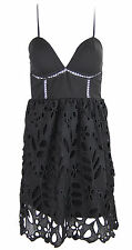 Y76 New Womens Ladies Cut Out Lace Dress Strapy Going Out Party Mini Dresses