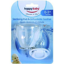 Happy Baby Steam 'n' Go Sterilising Pod & Silicone Ortho Soother0-3m+