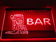 LE139- Duff Simpsons Beer Bar LED Neon Light Sign/Sign Light Neon Bar Beer