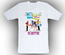 The Fresh Beat Band Personalized Custom Shirt in White, Blue, Pink and Yellow