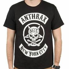 Anthrax Biker Skull T-Shirt SM, MD, LG, XL, XXL New