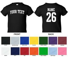 Custom Name & Number Personalized Toddler T-shirt, Choose Text ARCHED TEXT