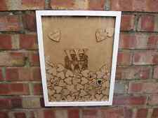 Small wedding guestbook drop box personalised monogram various quantity tokens