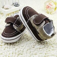Toddler Baby Boy Girl White Soft Sole Crib Shoes Infant Sneakers 0-18 Months