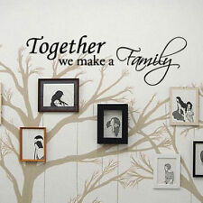 TOGETHER WE MAKE A FAMILY - Vinyl Wall Art Quote Decals