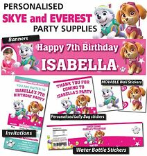 Personalised Skye and Everest Birthday Party Banner Decorations Supplies
