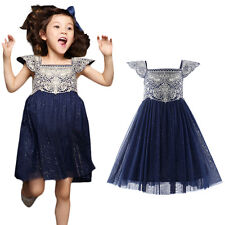 Kids Girls Princess Party Dress Toddler Birthday Wedding Pageant Fancy Dresses