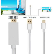 Lightning MHL To HDMI HDTV AV Adapter Dock USB Charger Cable For iPhone & iPad