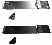 """Heavy Duty Hasp and Staple Gate Shed Door Lock 150mm 6"""" / 100mm 4"""" BLACK SILVER"""