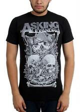 Asking Alexandria Skull Stack Slim T-Shirt SM, MD, LG, XL, XXL New