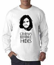 New Way 114 - Long-Sleeve T-Shirt Crows Before Hoes Jon Snow Game Of Thrones