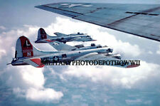 USAAF B-17 Flying Fortress Color Photo 532ND 381 Bomber Military WW2 USAF Plane