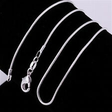 "925 Sterling Silver 22"" 1mm Snake Chain Necklace~ New"