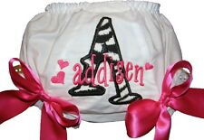 Personalized Zebra Monogram Baby Diaper Cover Bloomers Pink Bows Free Ship