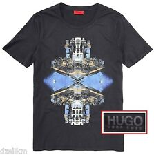 NWT HUGO (Red Label) by Hugo Boss Tee Graphic T-Shirt in Lava Black